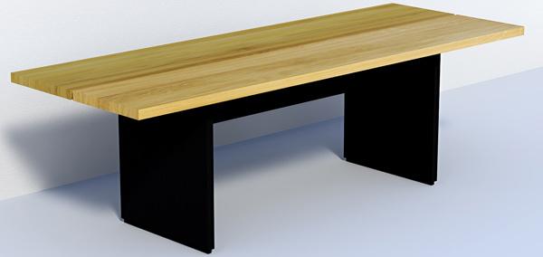 Eiken tafel 2 plank design - Planken modern design ...