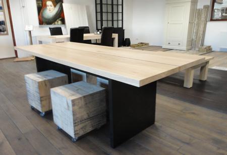 Wit Eiken Tafel : Eiken tafel plank design