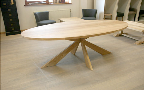 Ovale Tafel Hout : Ovake eiken tafel edinburgh